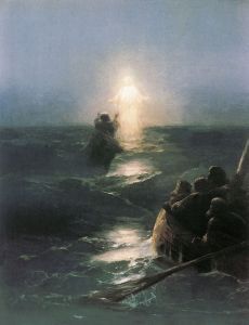 Jesus walks on water Ivan Aivazovsky (1888) Private collection