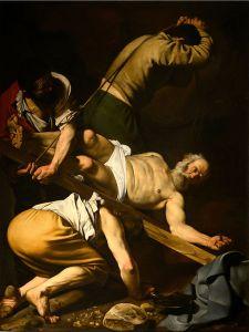 The Crucifixion of Saint Peter Caravaggio, 1600-01 Cappella Cerasi, Santa Maria del popolo, Rome
