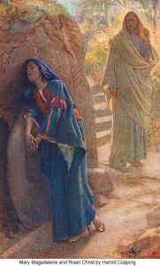 Mary Magdalene and Risen Christ Harold Copping