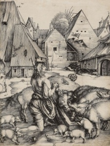 The Prodigal Son Albrecht Dürer, c.1496 Engraving, Royal Collection Trust London
