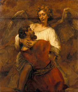 Jacob Wrestling with the Angel Rembrandt, ca 1659 Gemäldegalerie der Staatlichen Museen zu Berlin