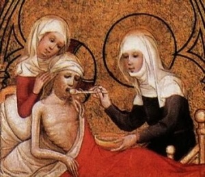 St Elizabeth of Hungary caring for the sick and dying