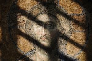 The Deesis Mosaic of Jesus (c. 1261) Hagia Sophia, Istanbul, Turkey. Photo by Ana Maria Vargas.