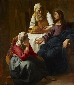 Christ in the House of Martha and Mary Johannes Vermeer, circa 1655 National Gallery of Scotland, Edinburgh