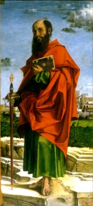 Saint Paul Bartolomeo Montagna, 1482 Museo Poldi Pezzoli, Milan, Italy