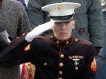 Marine in wheelchair