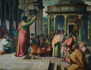 Saint Paul delivering the Areopagus Sermon in Athens Raphael, 1515 Royal Collection of the United Kingdom