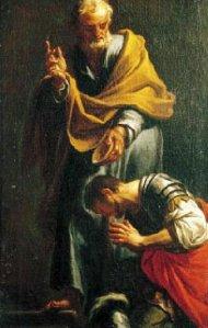 Peter Baptizing the Centurion Cornelius Francesco Trevisani, 1709