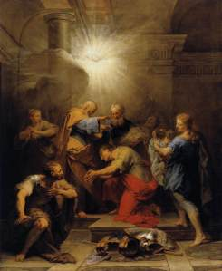 Ananias Restoring the Sight of St Paul Jean Restout, 1719 Musée du Louvre, Paris