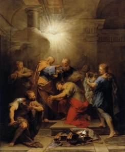 Ananias Restoring the Sight of St Paul Jean Restout, 1719 Musée du Louvre, Paris