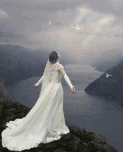 Bride of Christ in white