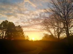 first gleam of dawn