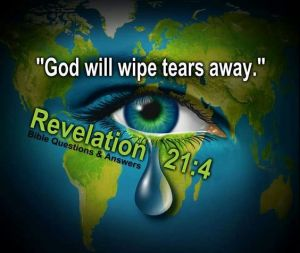 he will wipe out every tear