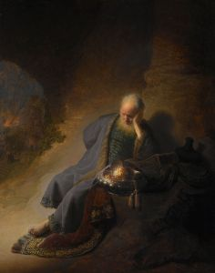 Jeremiah Lamenting the Destruction of Jerusalem Rembrandt van Rijn, c. 1630 Rijksmuseum Amsterdam