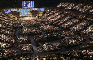 Joel Osteen, Lakewood Church, Houston TX – 45,000 members, 20 million television viewers in 100 countries