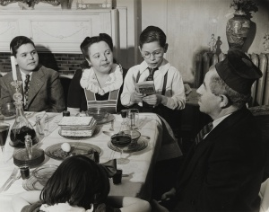 """Arnold Eagle, """"Passover Seder"""" from 'Asking the Four Questions' (1934–35), gelatin silver print"""