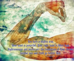 Psalm 89:13-14 Digital Artwork by  Michelle Greene Wheeler