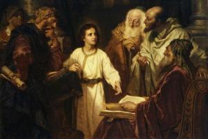 Boy Jesus in the Temple (Christ in the Temple), by Heinrich Hofmann