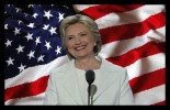 hillary-in-white-with-americanflag
