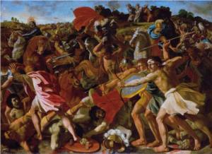 Victory of Joshua over the Amalekites Nicolas Poussin, 1625 Hermitage, St. Petersburg, Russia