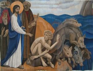 Exorcism, tapestry Andrei Madekin