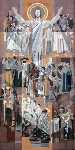 """Word of Life"" (mural) Hesburgh Library University of Notre Dame"