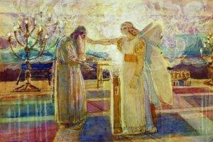 Archangel Gabriel Struck Zechariah Mute by Alexander Ivanov, (1824)