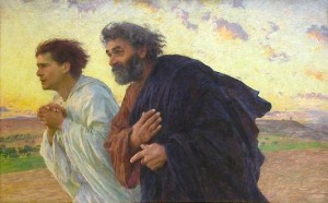 """The Disciples Peter and John Running to the Sepulchre on the Morning of the Resurrection"" Eugène Burnand, 1898 Musée d'Orsay"