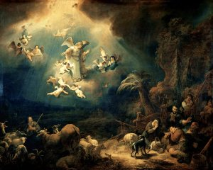 The Angel Appearing to the Shepherds Govert Flinck, 1639 Louvre Museum