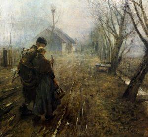 """""""The Road to Bethlehem"""" Fritz von Under, 1890 Munich, Neue Pinakothek"""